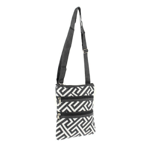 Luggage 003 185 YH greek key messenger bag gray