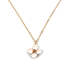 Necklace 149 01 Influence floral color petals pink