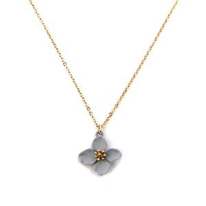 Necklace 097 01 Influence floral color petals gray