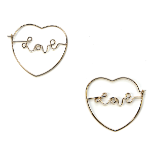 Earring 2546a 01 Influence heart earrings love gold