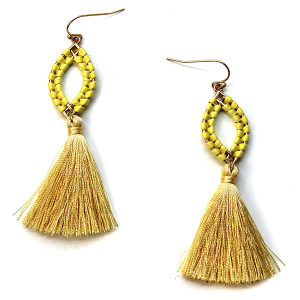 Earrings 2562a 01 Influence tassel earrings yellow