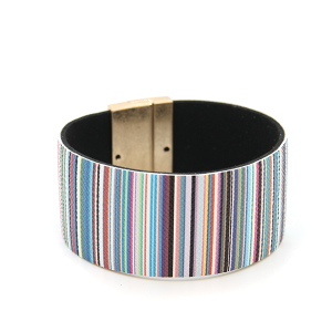 Bracelet 381c 01 CiTY stripe bracelet magnetic band light multi