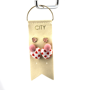 Earring 2915a 01 City 2 stud earring set heart valentines