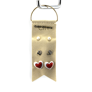 Earring 2967c 01 City 3 stud earring set heart valentines