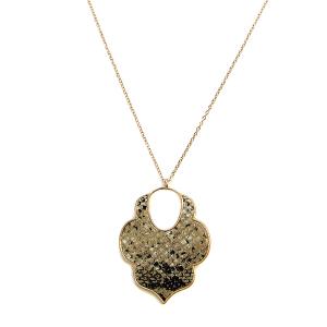 Necklace 009 04 Clover moroccan python snake necklace beige