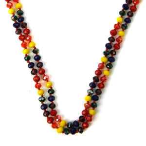 Necklace 1091 04 Cherie 30 60 inch bead necklace multicolor