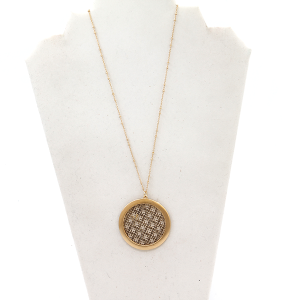 Necklace 473M 78 A Project round geometric bronze