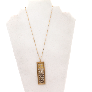 Necklace 437F 78 A Project rectangle geometric gold