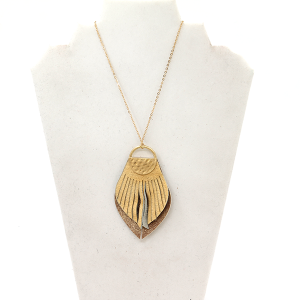 Necklace 345C 81 City fringe drop natural