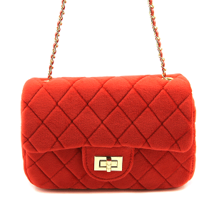 Caleesa quilted fabric mini crossbody 0698 bright red