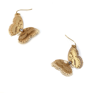 Earring 353c 06 V Butterfly Earrings gold