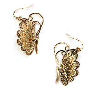 Earring 356i 06 V Butterfly Earrings gold