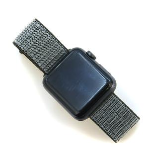 Watch Band 027 08 velcro soft knit band 38mm 40mm gray