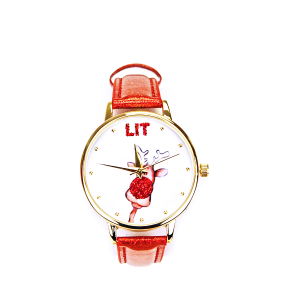 Christmas watch 088 08 rudolph red nose lit red