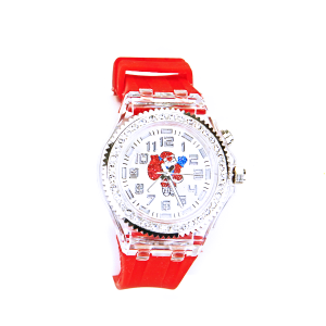 Christmas watch 086 08 santa red silver crystal