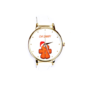 Christmas watch 098 08 gingerbread santa oh snap white