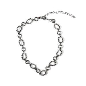 Necklace 188a 10 Avec collar chain necklace silver