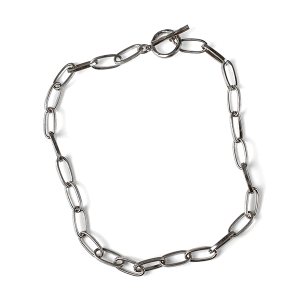 Necklace 158a 10 Avec collar chain necklace toggle silver