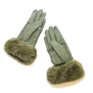 Winter Gloves 057 03 Justin&Taylor Soft Touch Gloves olive khaki