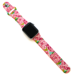 Watch Band 081b 38mm 40mm rose floral pink