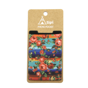 Phone Pocket 023a 12 Tipi floral serape