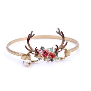 Bracelet 291o 12 Tipi Floral Longhorn headdress Multi gold
