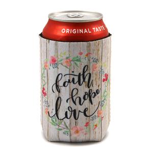 Drink Sleeve 068a 12 Tipi floral wood faith hope love