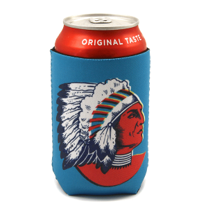 Drink Sleeve 062a 12 Tipi indian chief blue