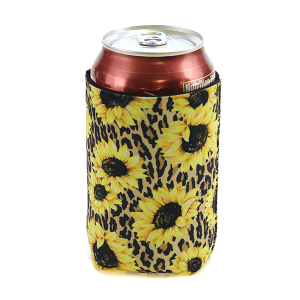 Drink Sleeve 057 12 Tipi sunflower leopard