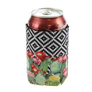 Drink Sleeve 054 12 Tipi geometric cactus black