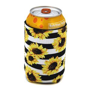 Drink Sleeve 062 12 Tipi stripe sunflower