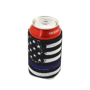 Drink Sleeve 107a 12 Tipi blue line USA Flag