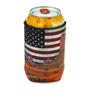 Drink Sleeve 050b 12 Tipi USA Flag cactus landscape
