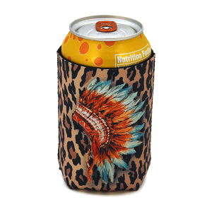 Drink Sleeve 051a 12 Tipi indian head leopard