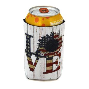 Drink Sleeve 052a 12 Tipi USA Flag LOVE