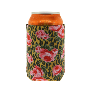 Drink Sleeve 075a 12 Tipi leopard flower