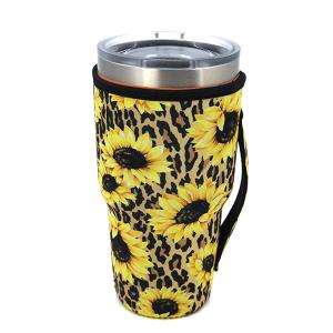 Tumbler Sleeve 070 12 Tipi leopard sunflower