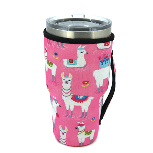 Tumbler Sleeve 075 12 Tipi llama pink