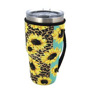 Tumbler Sleeve 067 12 Tipi leopard sunflower mint