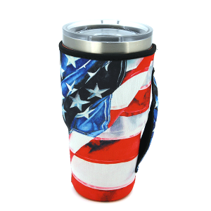 Tumbler Sleeve 047b 12 Tipi USA flag