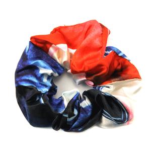 Hair Tie 294 12 Tipi American Flag scrunchie