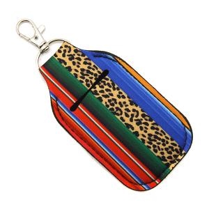 Hand Sanitizer Keychain Pouch 107 leopard serape