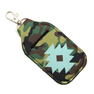Hand Sanitizer Keychain Pouch 100 geometric camo