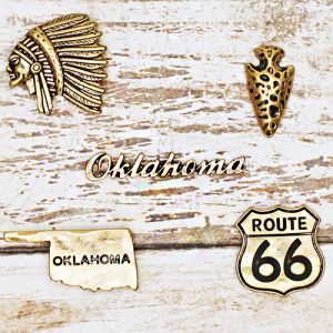 lapel pin 001 12 Tipi Oklahoma pin set gold