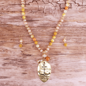 neck 1329i 12 Tipi bead hope anchors the soul gold