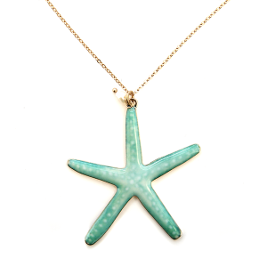 Necklace 191n 12 Tipi Starfish necklace turquoise