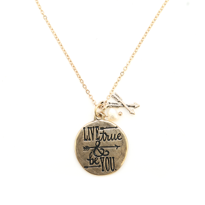 Necklace 250b 12 Tipi Live True and Be You Necklace gold