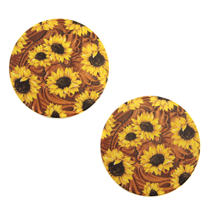 Car Coaster 024a 12 Tipi sunflower brown