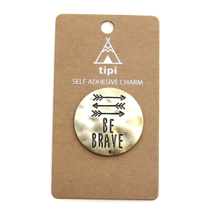 Phone Charm 042 Sticker 12 Tipi be brave gold