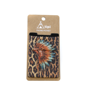 Phone Pocket 026 12 Tipi Leopard Headdress